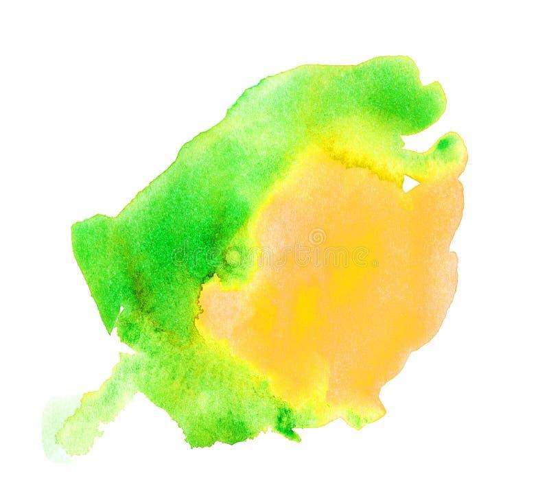 Oozing Green Watercolor Splat. Handmade illustration of green watercolor vector illustration