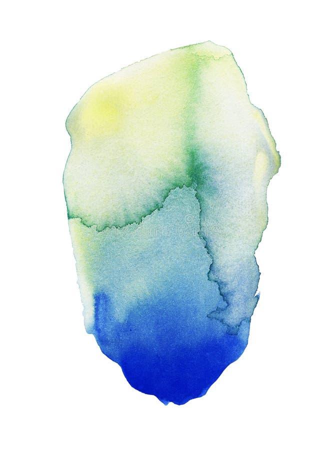 Oozing Green Watercolor Splatter. Handmade illustration of green watercolor royalty free illustration