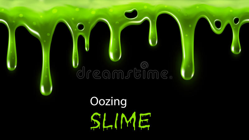 Oozing slime royalty free illustration