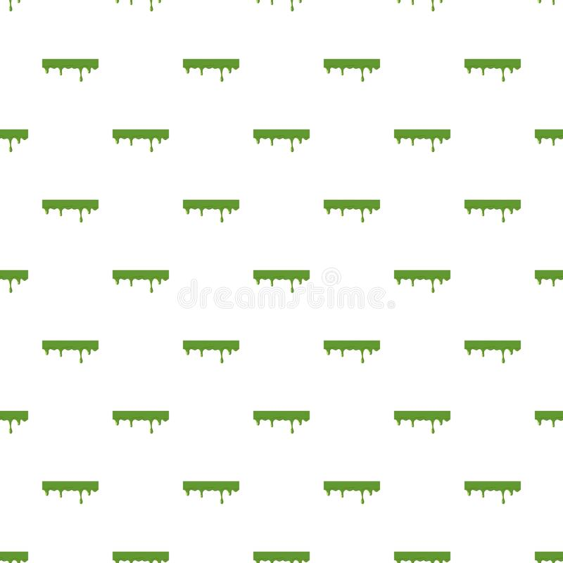 Oozing slime isolated on white background. Green slime vector illustration royalty free illustration