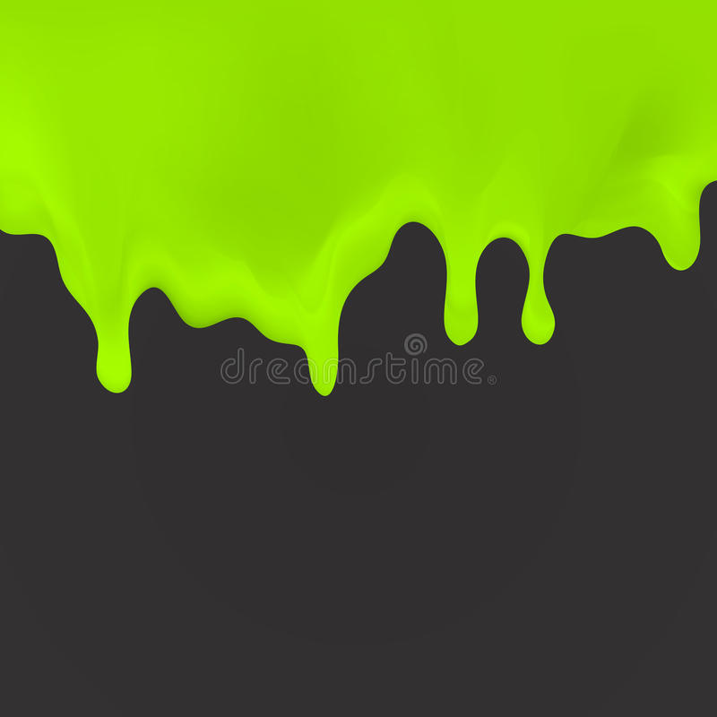 Oozing slime seamlessly repeatable. Dripping green, cream, paint on dark back. illustration for your projects, invitations, cards, T-shirts stock illustration