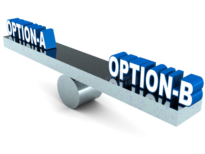 Opção a ou b ilustração royalty free