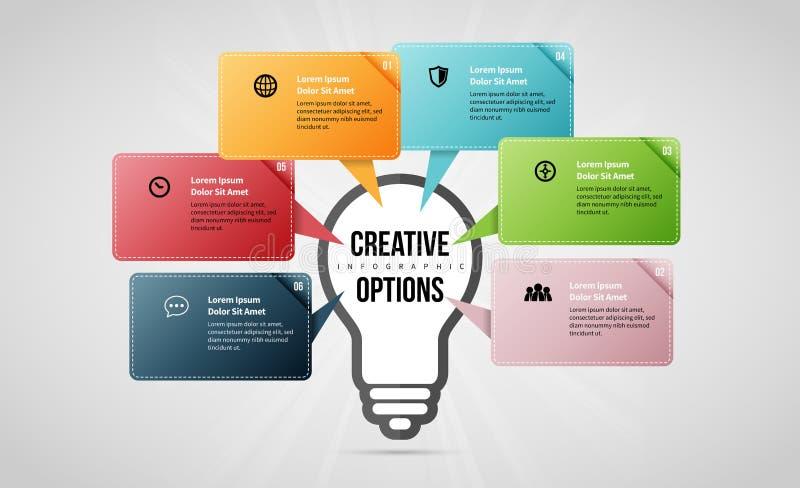 Opções criativas Infographic ilustração do vetor