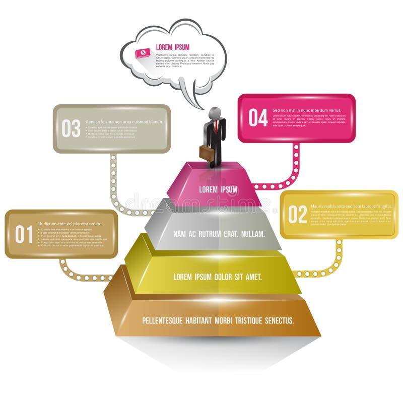 Opções do número do conceito do negócio com homem de negócio ilustração stock