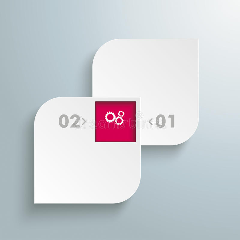 Opções redondas do molde 2 de Quadrates 1 furo ilustração stock