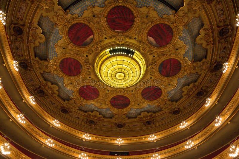Opéra ceiiling photo libre de droits