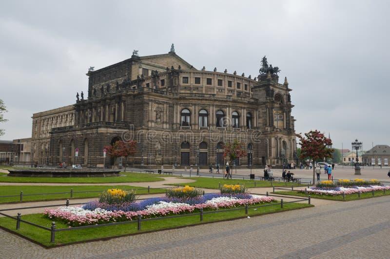 Opéra d'état de Dresde photographie stock