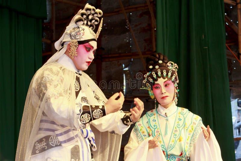 Opéra de Cantonese du festival 2011 de pain de Cheung Chau photos stock