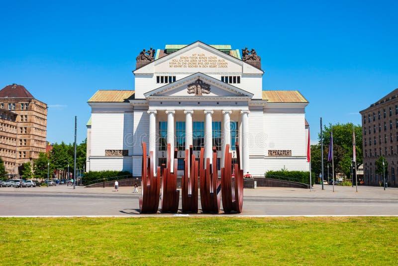 Opéra du théâtre de Duisburg, Allemagne photos libres de droits