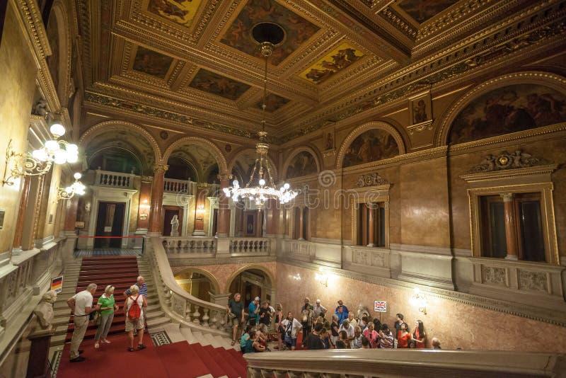 Opéra hongrois Budapest d'état photo stock