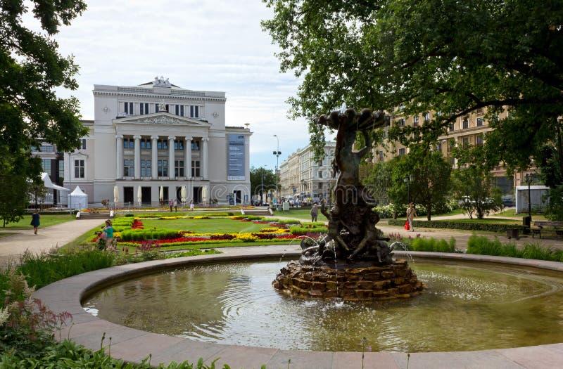 Opéra national letton à Riga images libres de droits