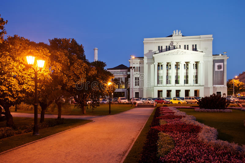 Opéra national letton à Riga photo stock