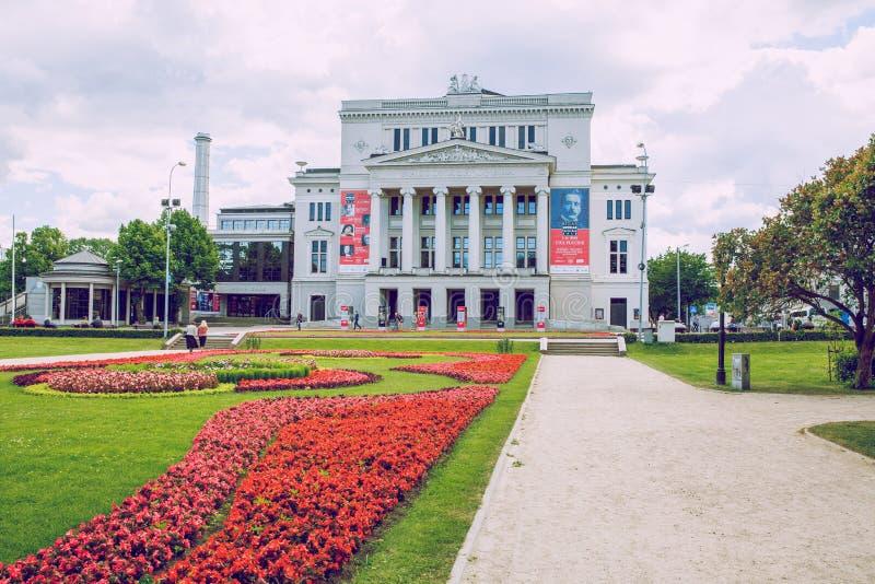 Opéra national letton à Riga photos libres de droits