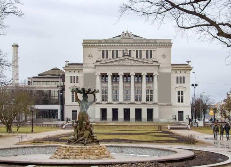 Opéra national letton image libre de droits