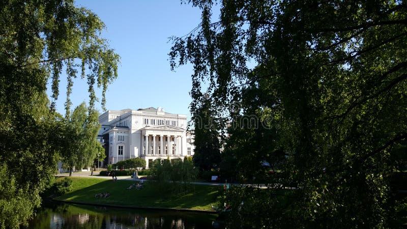 Opéra national letton image stock