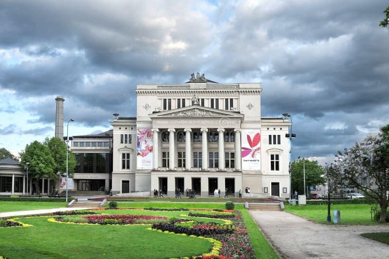 Opéra national letton, Riga, Lettonie photos libres de droits