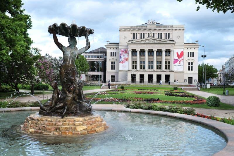 Opéra national letton, Riga, Lettonie photo stock