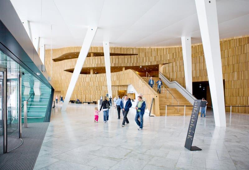 opéra Oslo de maison photos stock