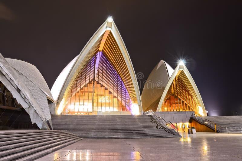 opéra Sydney de nuit de maison photo stock