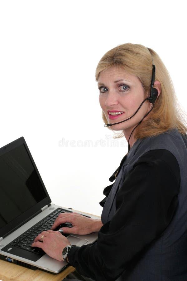 Opérateur attirant 3 de service client images stock