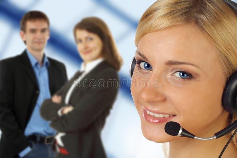 opérateur avec l'écouteur photo libre de droits