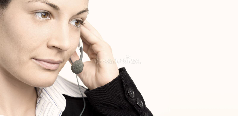 Opérateur avec l'écouteur photo stock