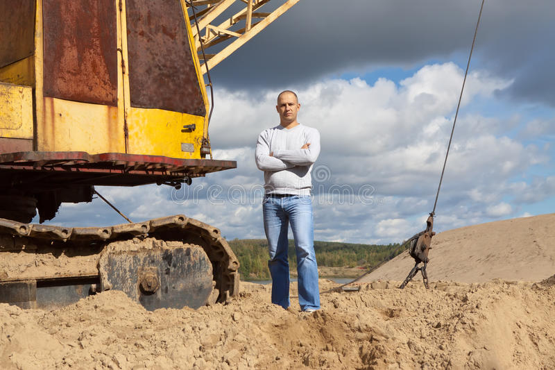 Opérateur d'entraîneur à la piqûre de sable photo libre de droits