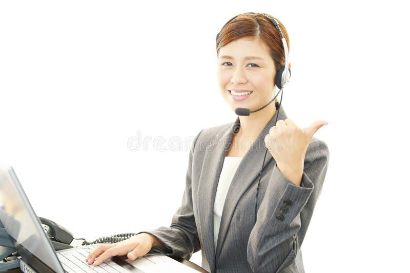 Opérateur de centre d'appels image libre de droits
