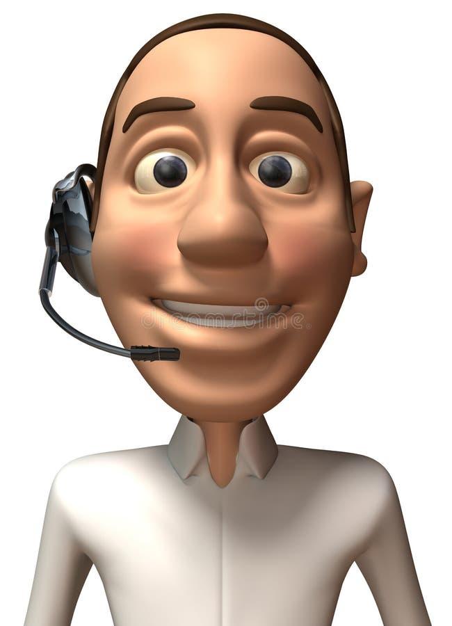 Opérateur de centre d'attention téléphonique illustration stock