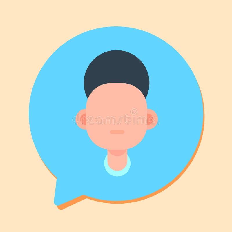 Opérateur de soutien d'homme de Callcenter, client et icône en ligne de service technique, concept de causerie, conception plate illustration de vecteur