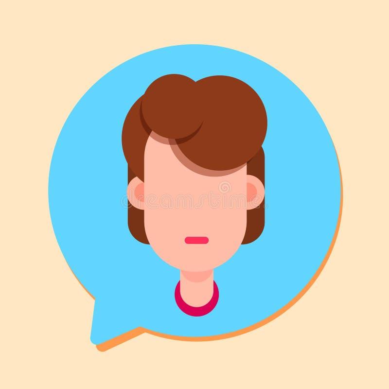 Opérateur de soutien de femme de Callcenter, client et icône en ligne de service technique, concept de causerie, conception plate illustration stock
