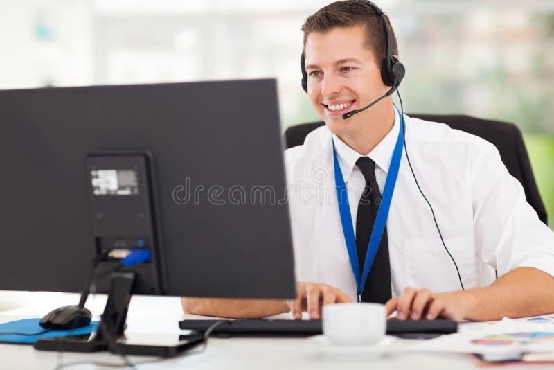 Opérateur de support technique image libre de droits