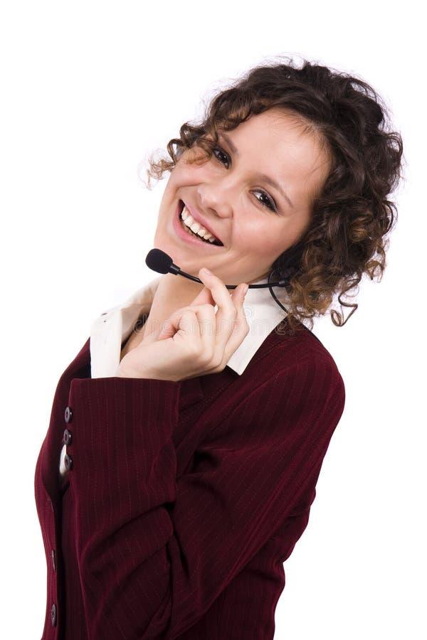 Opérateur de téléphone image libre de droits