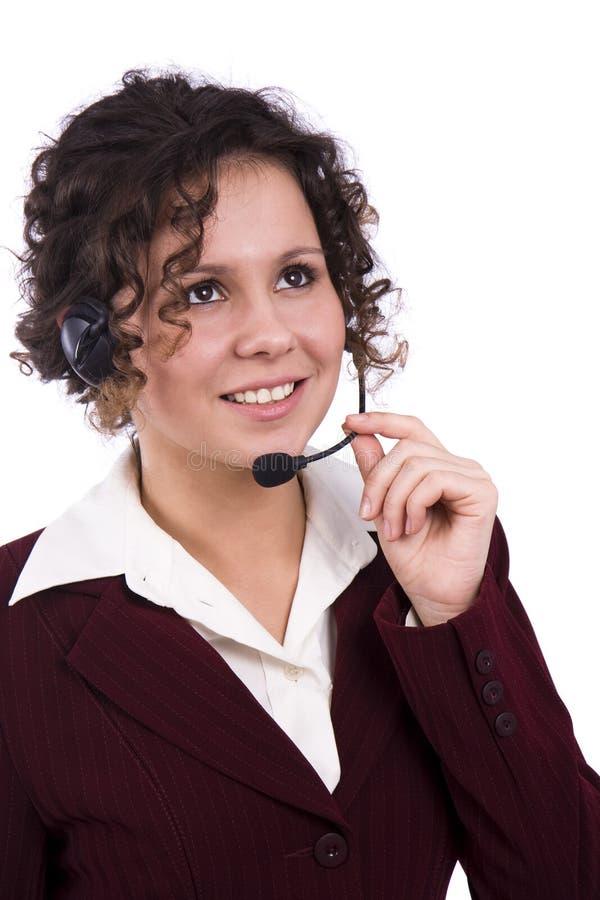 Opérateur de téléphone images stock