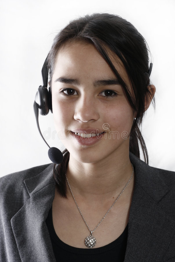 Opérateur de téléphone amical photographie stock libre de droits