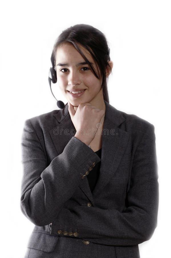 Opérateur de téléphone amical image libre de droits