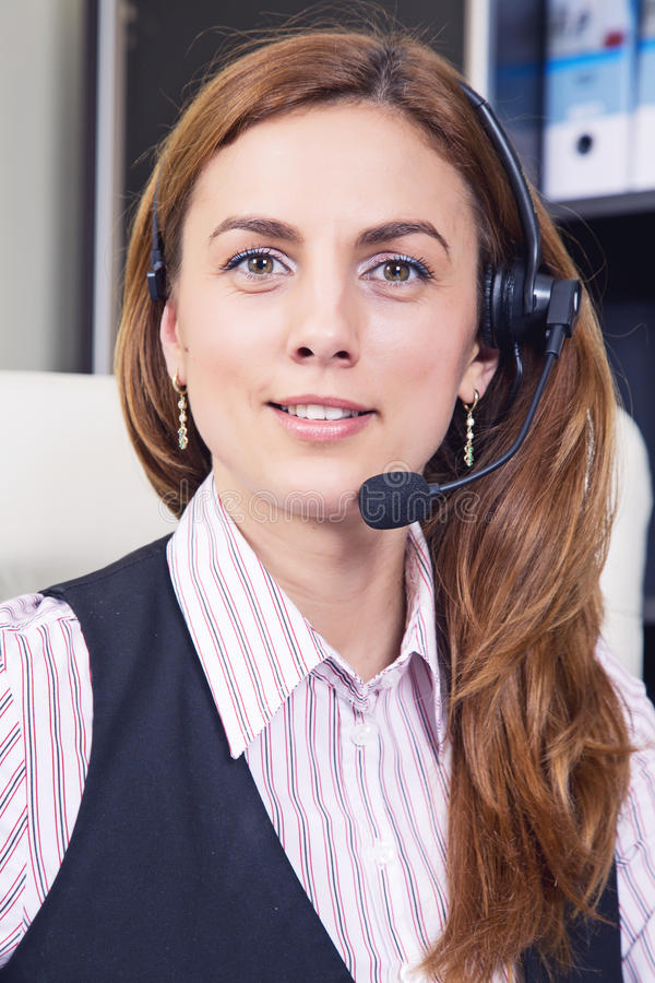 Opérateur de téléphone de soutien photo stock