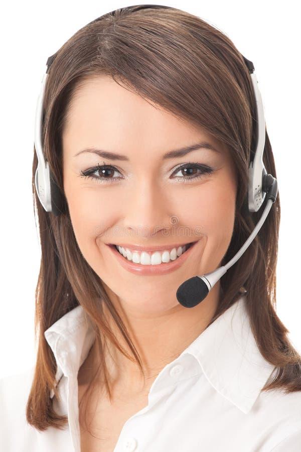 Opérateur de téléphone de support photographie stock