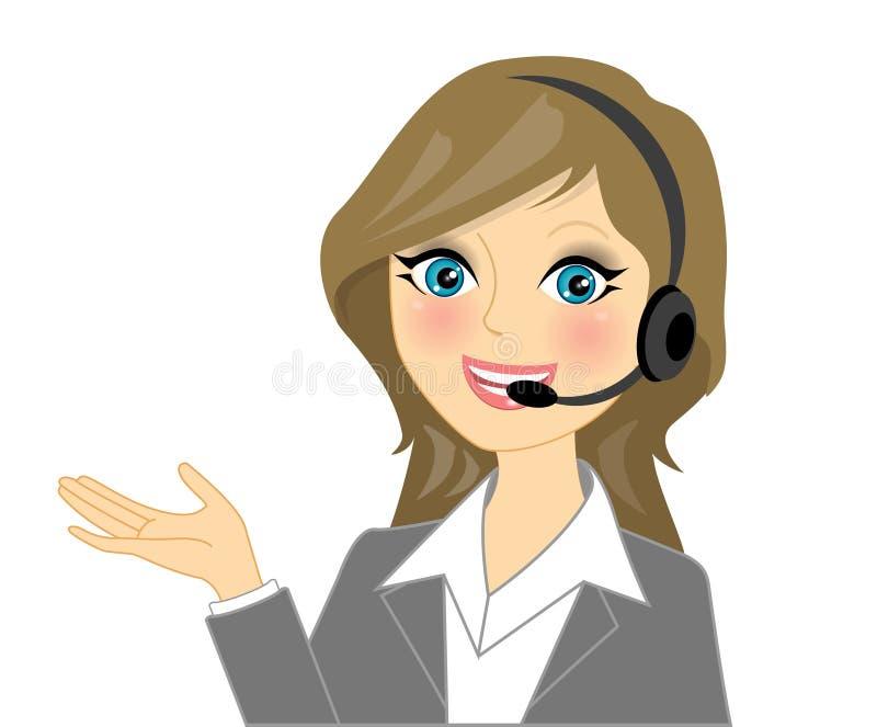 Opérateur de téléphone de vecteur illustration libre de droits