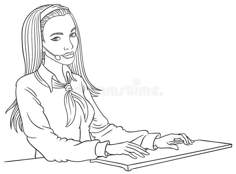 Opérateur de téléphone de vecteur illustration stock