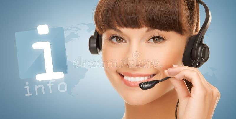 Opérateur féminin futuriste de service d'assistance photo stock