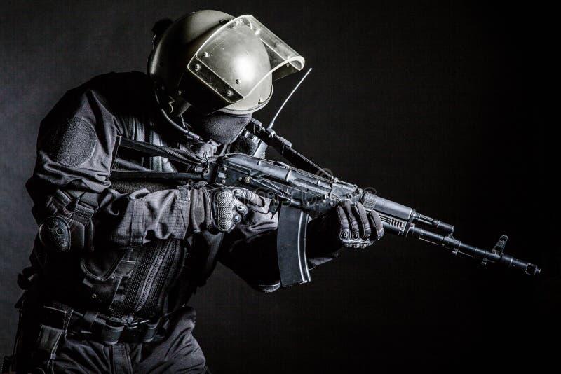 Opérateur russe de forces spéciales photos libres de droits
