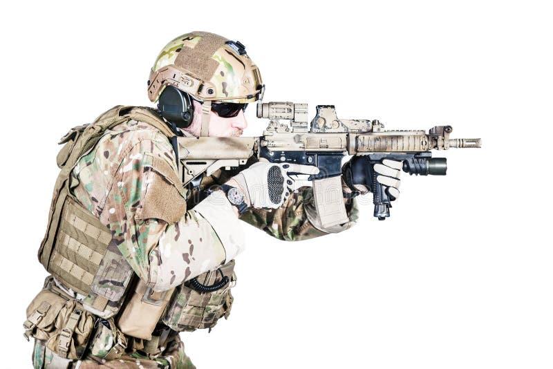 Opérateur spécial de guerre image libre de droits