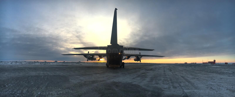 Opération Marambio d'Antartica images libres de droits