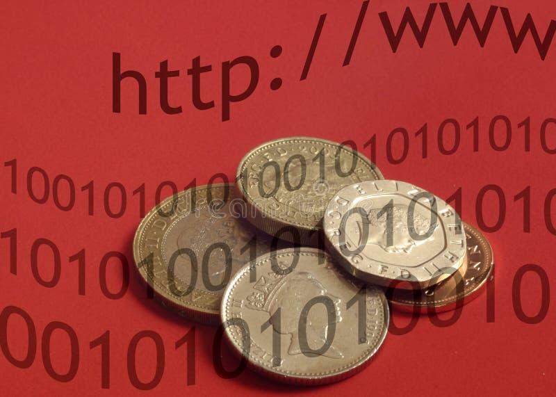 Opérations bancaires britanniques d'Internet illustration stock