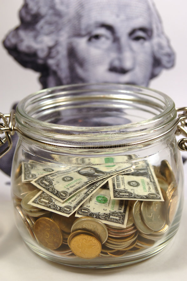 Opérations bancaires de choc photos stock
