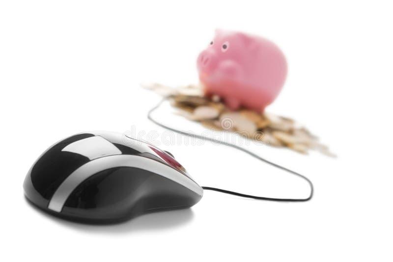 Opérations bancaires en ligne photo stock