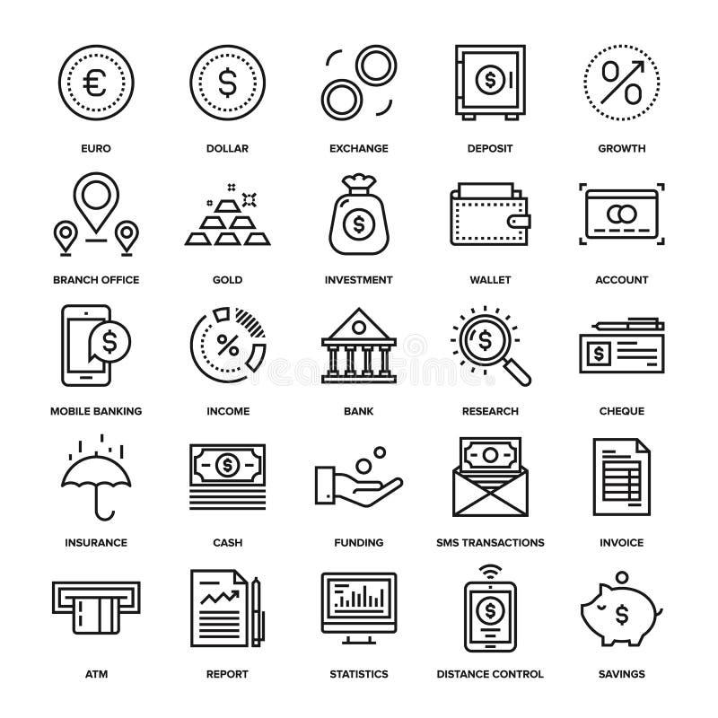 Opérations bancaires et argent illustration stock
