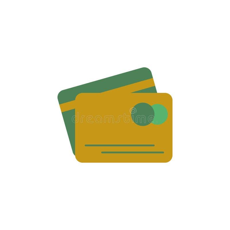 Opérations bancaires, icône de carte de crédit Élément d'icône d'argent et d'opérations bancaires de Web pour des applis mobiles  illustration libre de droits