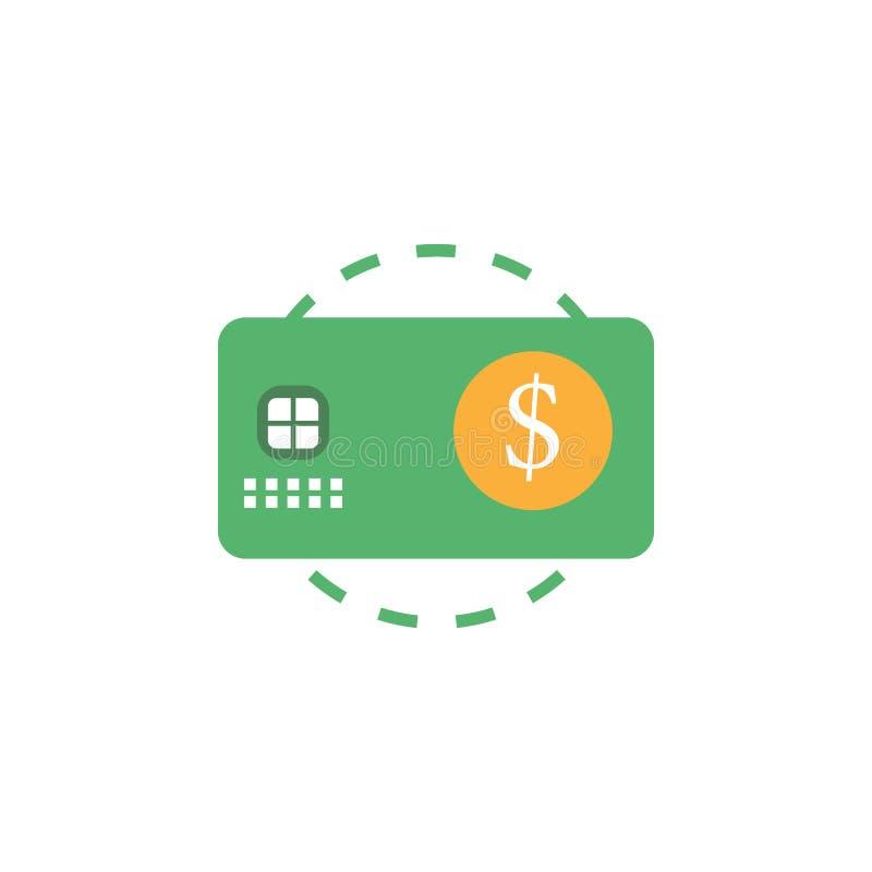 Opérations bancaires, icône de cartes de crédit Élément d'icône d'argent et d'opérations bancaires de Web pour des applis mobiles illustration stock
